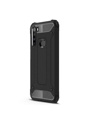 Microsonic Xiaomi Redmi Note 8 Kılıf Rugged Armor Siyah Siyah